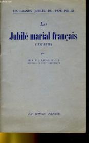 Le Jubile Marial Francais (1937-1938) - Couverture - Format classique