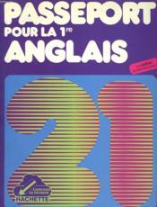Passeport Pour La 1re, Anglais - Couverture - Format classique