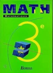 Maths 3e eleve 99 - Couverture - Format classique