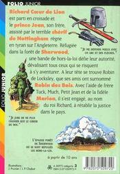 Robin des bois - 4ème de couverture - Format classique