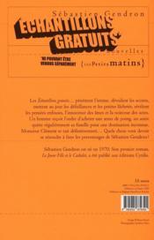 Échantillons gratuits ne pouvant être vendus séparement - 4ème de couverture - Format classique