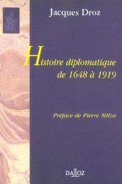 Histoire diplomatique de 1648 à 1919 - Intérieur - Format classique