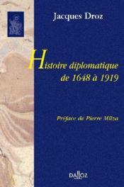 Histoire diplomatique de 1648 à 1919 - Couverture - Format classique