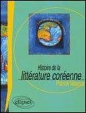 Histoire De La Litterature Coreenne - Intérieur - Format classique