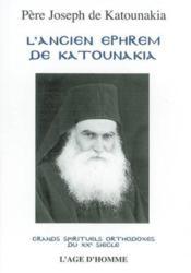 Ancien Ephrem De Katounakia (L') - Couverture - Format classique