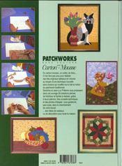 Patchworks Sur Carton Mousse - 20 Tableaux A Realiser T1 - 4ème de couverture - Format classique