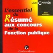 Resume concours fonction publique - Couverture - Format classique