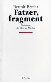 Fatzer, fragment - Couverture - Format classique