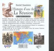 Histoire d'une île ; La Reunion - 4ème de couverture - Format classique