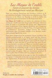 Les Mayas De L'Oubli - 4ème de couverture - Format classique