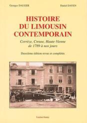 Histoire du limousin contemporain - Couverture - Format classique