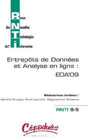 Entrepôts de données et analyse en ligne : EDA'09 - Couverture - Format classique
