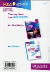 PASS'FOUCHER ; concours IFSI ; fiches de révision, QCM et tests (7e édition) - 4ème de couverture - Format classique