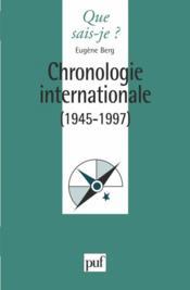 Chronologie internationale (1945-1997) - Couverture - Format classique