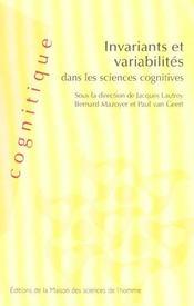 Invariants Et Variabilites Dans Les Sciences Cognitives - Intérieur - Format classique