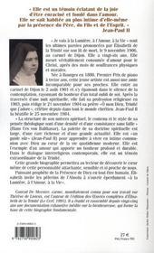 Élisabeth de la trinité - 4ème de couverture - Format classique