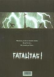 Chéri-bibi t.1 ; fatalitas - 4ème de couverture - Format classique