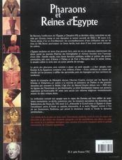 Pharaons et reines d'egypte - 4ème de couverture - Format classique