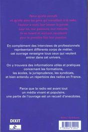 Metiers Et Gens De Radio - 4ème de couverture - Format classique
