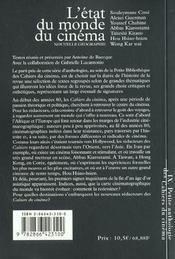 Petite anthologie des cahiers du cinéma t.9 ; l'état du monde du cinéma - 4ème de couverture - Format classique