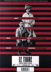 Tigre n 5 septembre 2007 - Intérieur - Format classique