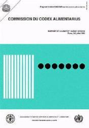 Commission du codex alimentarius ; rapport de la 21e session de rome 3-8 juillet 1995 ; programme mixte fao-oms - Couverture - Format classique