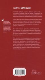 L'art au Moyen Age - 4ème de couverture - Format classique