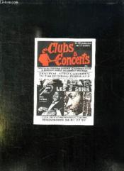 Brochure. Clubs Et Concerts. N° 56 Bordeaux Et Cub. - Couverture - Format classique