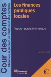 Les finances publiques locales ; octobre 2013 - Couverture - Format classique