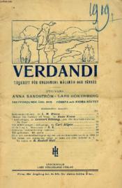 Verdandi, Trettiosjunde Årg. 1919, Första O. Andra Häftet, Tidskrift För Ungdomens Målsmän Och Vänner - Couverture - Format classique