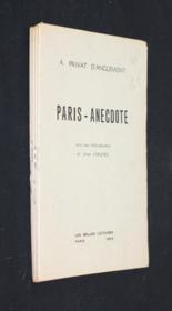 Paris - Anecdote - Couverture - Format classique