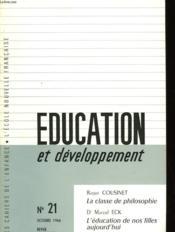Education Et Developpement N°21 - Couverture - Format classique
