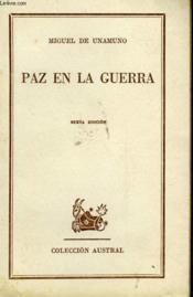 Paz En La Guerra - Couverture - Format classique