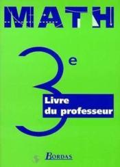 Maths 3e prof 99 - Couverture - Format classique