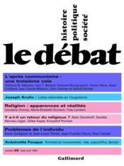 Revue Le Débat N.59 ; mars-avril 1990 - Couverture - Format classique