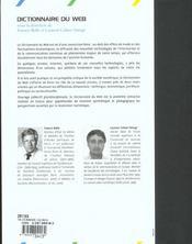 Dictionnaire du web - 4ème de couverture - Format classique