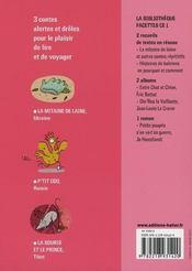 CE1 ; la mitaine de laine ; et autres contes répétitifs : p'tit coq ; la souris et le prince - 4ème de couverture - Format classique