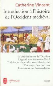 Introduction à l'histoire de l'Occident médiéval - Intérieur - Format classique