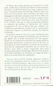 Introduction à l'histoire de l'Occident médiéval - 4ème de couverture - Format classique