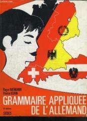 Grammaire Appliquee De L'Allemand - Couverture - Format classique
