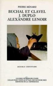 Buchal et clavel, j. duplo, alexandre lenoir - Couverture - Format classique