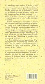 Le Bon Geste - Le Manuel Du Jardinier - 4ème de couverture - Format classique