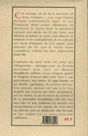 Daw Sein ; Les Dix Mille Vies D'Une Femme Birmane - 4ème de couverture - Format classique