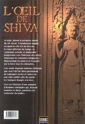 L'oeil de Shiva - 4ème de couverture - Format classique