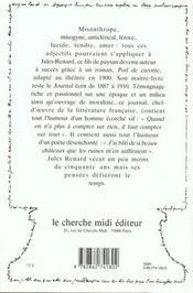 Les pensees de jules renard - 4ème de couverture - Format classique