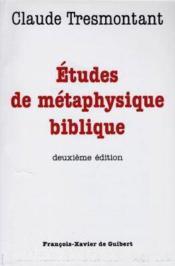 Etudes de metaphysique biblique - Couverture - Format classique