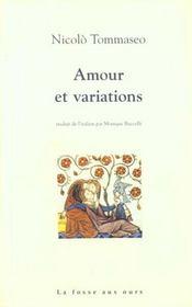 Amour Et Variations - Intérieur - Format classique