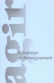 Agir, N° 25 Mars 2006: Prévention et renseignement - Intérieur - Format classique