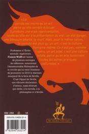 L'appel de Séville - 4ème de couverture - Format classique