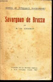 Savorgnan De Brazza. - Couverture - Format classique